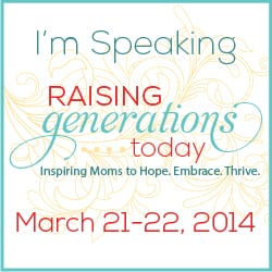 Speaking at Raising Generations Today
