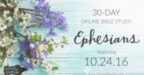 The NEW Bible Study on Ephesians {Plus a Giveaway}